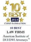 10 Best Law Firms American Institute Of DUI/DWI Attorneys Florida